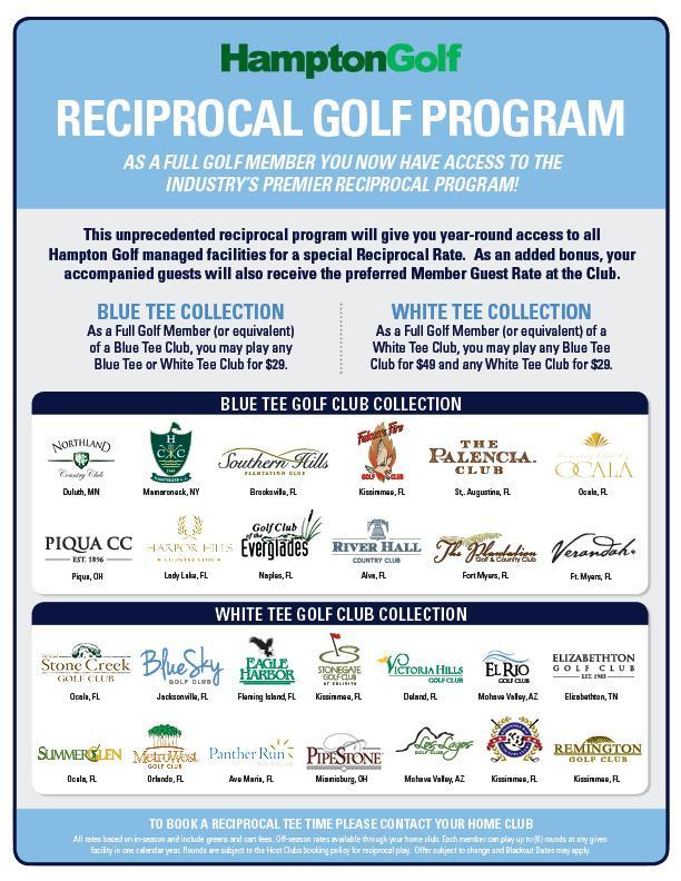 Hampton Golf Reciprocal